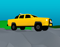 Toyota Pickup Truck 3d Modeling / Illustration