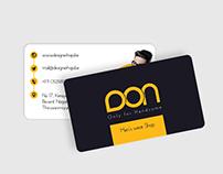 Business Card for Men's Fashion Shop