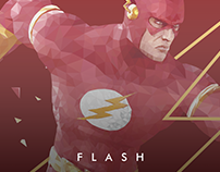 Flash Low Poly Vector