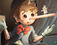 Pinocchio | Card Game Graphic Design