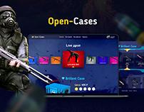 Open-Cases концепция сайта открытия кейсов CS:GO