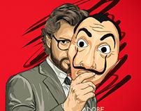 The Professor from La Casa de Papel/Money Heist fan art