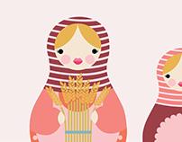 Matryoshka Illustrations