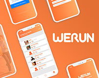 WERUN - UX/UI Mobile app