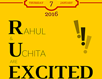 Wedding Announcement Posters for an Indian Wedding