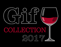 """GIF collection """"Wine"""""""