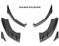 Lamborghini Aventador the car body kit