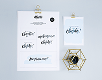 Free wedding lettering set and cards for Meelo