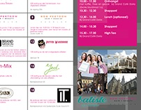 Lady talk shopping experience flyer (dutch)