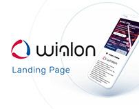 Landing page on Wialon system GPS/GLONASS monitoring