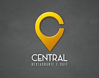 Central Restaurante & Café - Criação de logotipo