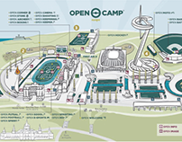 OPEN CAMP - SPORTS PARK· 8 guides infographics