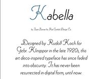 Kabella typeface revival
