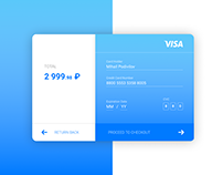 Daily UI. Day 2. Credit Card Checkout