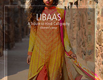 LIBAAS: A Tribute to Hindi Calligraphy (Women's wear)