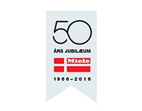 Miele Denmark 50 years anniversary logo