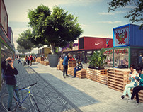 Conceptual container mall - Image Compositing