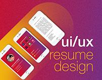 UI/UX Resume design