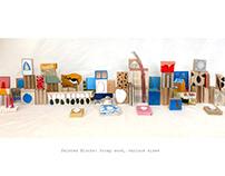 Painted Wood Santa Fe Blocks~Degree Project 2020~