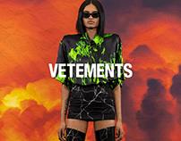 Vetements Website / E-commerce