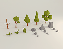 Nature Pack - Low Poly - [Free]