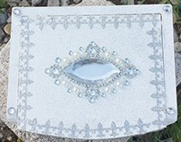 Bridal Jewelry Box Silver and white