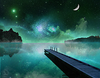 Night Fantasy Lake