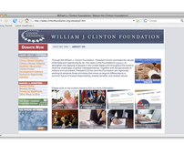Clinton Foundation Work