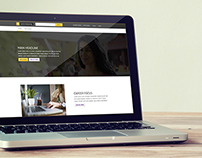 Curtin University - Marketing landing page mockup