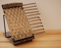 Woven Metal Book Holder