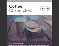 Coffee Themed Monthly Email Template