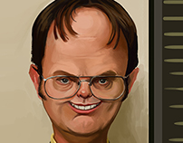 The office: caricatures