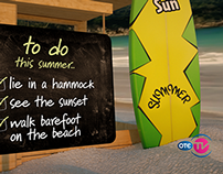 "OTE TV SUMMER TO-DO campaign ""Surf"" (6/2014)"
