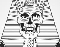 Skull, egypt and sun!