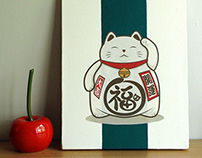 Maneki Neko Canvas