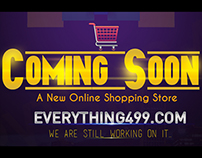Coming Soon Page for A New Online Shopping Website