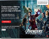 "Trivia ""The Avengers"" (Landing page) for Cablevisión"