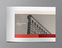 Minimal Modern Red Brochure