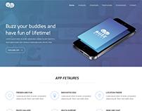 Buzz Buddy App Landing Page