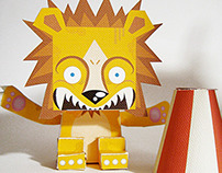 Circus paper toys