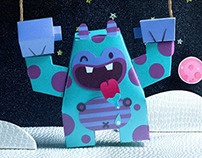 Monster paper toy