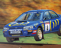 Subaru Impreza WRC, car illustration