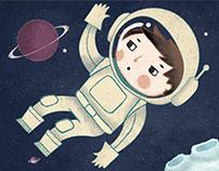 """Como astronauta en mi propio espacio"""
