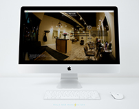Hairdresser salon web design concept