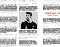 Two-page magazine spread