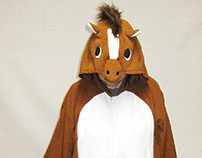 animal onesies brown horse kigurumi