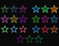 Freebie PSD: 21 Photoshop Neon Layer Styles (set 1)