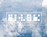 Personal abstract font.