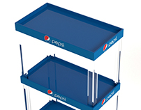 Pepsi Plastic Pillar Rack