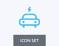 Car and Road icon set
